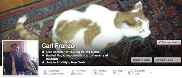 Nova interface do perfil no Facebook