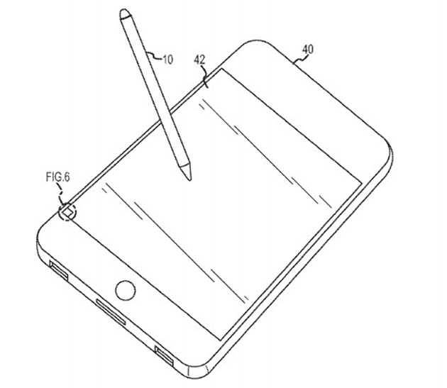 Patente da Apple com stylus