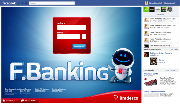 Bradesco no Facebook