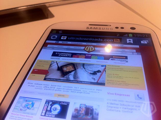 Samsung Galaxy S III (foto: André Fogaça/Ultra Downloads)