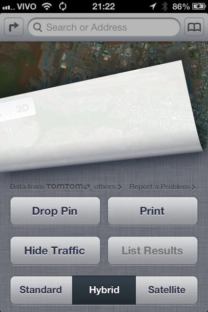 Detalhe para o TomTom no mapa. (Imagem: MacMagazine)