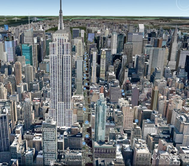 Nova York no Google Earth