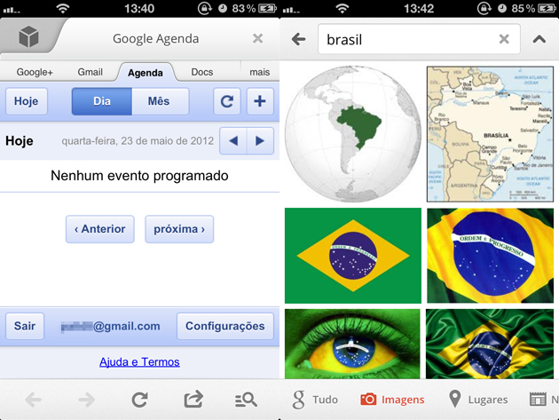 Novo app do Google para iOS