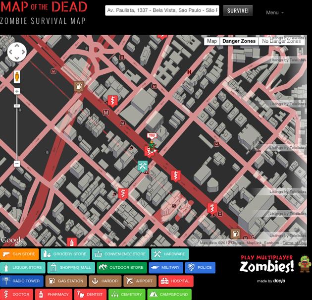 Mapa Zumbi