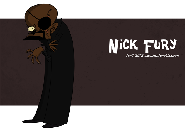 Nick Fury Caricatura