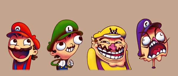 super mario troll faces
