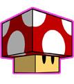 Cogumelo Mario Paper Craft