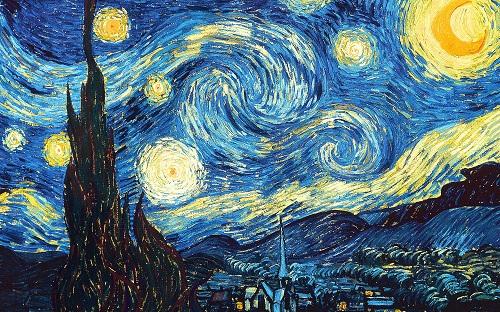 A Notie estrelada Van Gogh