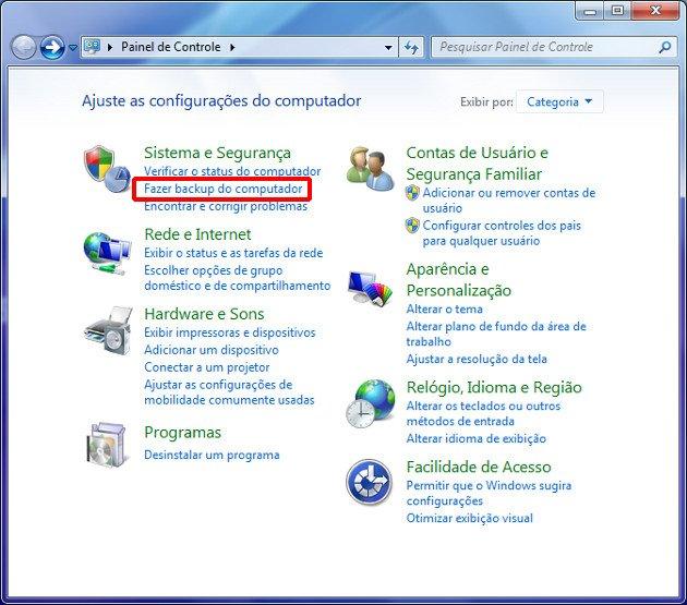 Painel de Controle do Windows