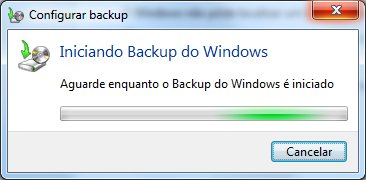 Iniciando backup do Windows