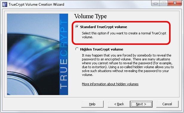 3 - Volume comum ou oculto no Truecrypt