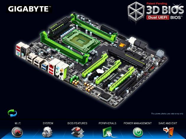 Placa-mãe Gigabyte chipset X79 com UEFI