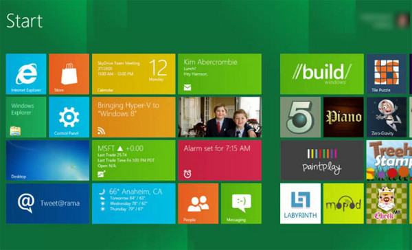 Windows 8 Interface Metro