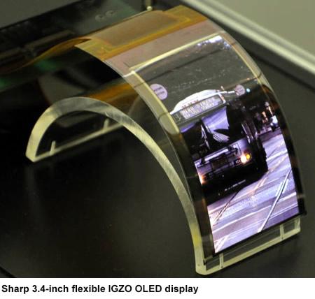 Tela Sharp OLED com IGZO e display flexível
