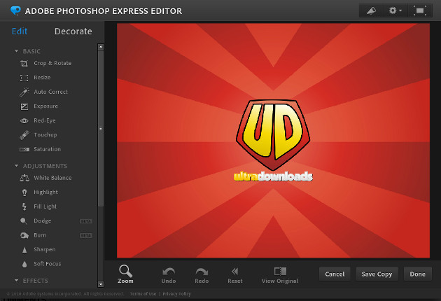 Editor do Photoshop.com
