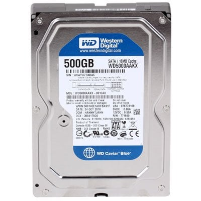 Concorrente número 2: HD Western Digital 500 GB Sata III