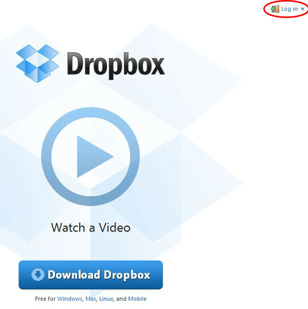 Site do Dropbox