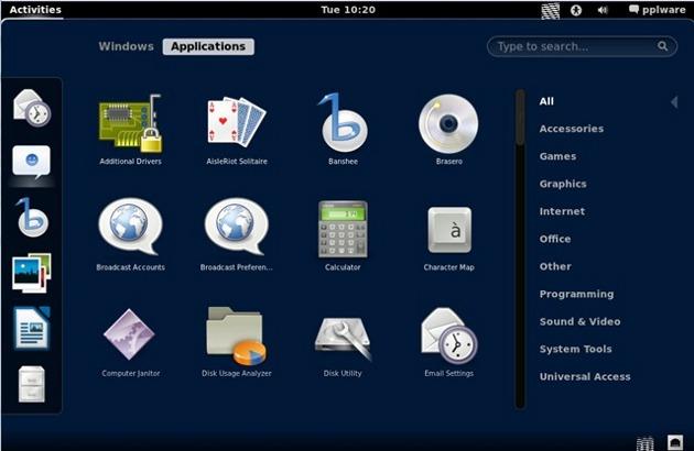 Desktop Gnome 3