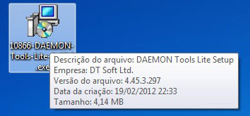 Instalador do Daemon Tools Lite