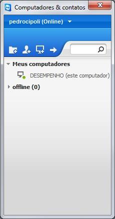 Lista de computadores conectáveis do Teamviewer