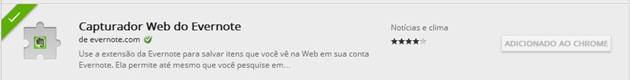 Web Clipper no Chrome Web Store