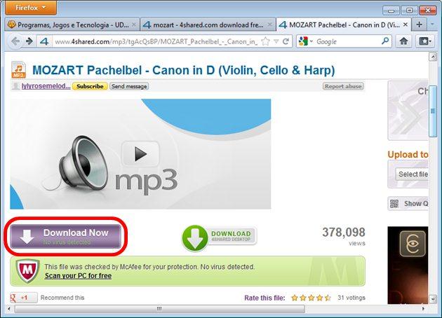 Descrição e download do arquivo no 4Shared com SkipScreen