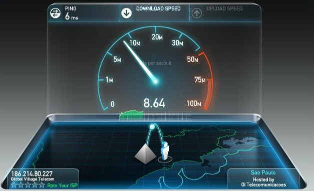 Executando o SpeedTest